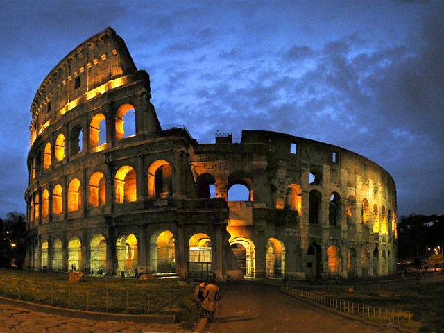 Darkness Falls in Rome