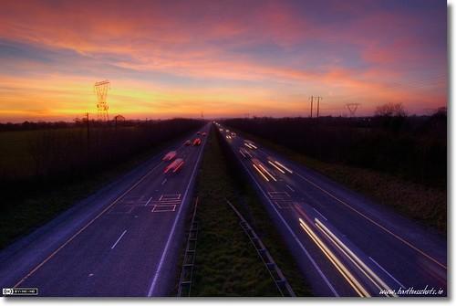 Nightfall over the M4