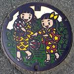 Matsumoto city, Nagano pref manhole cover 2(長野県松本市のマンホール2)
