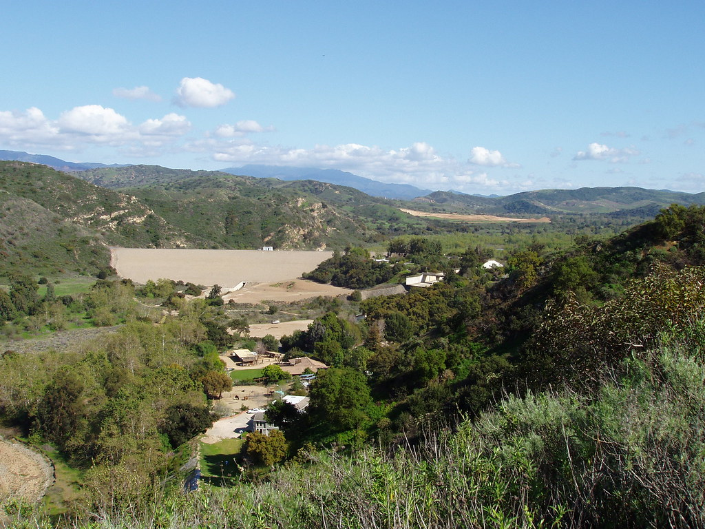 Dam and Valley at Santiago Oaks