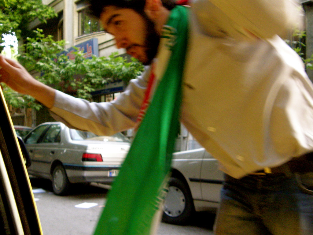 Mousavi Supporter on the Road, Esfahan