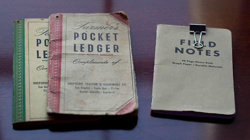 Grandpa's Pocket Ledger & My Field Notes