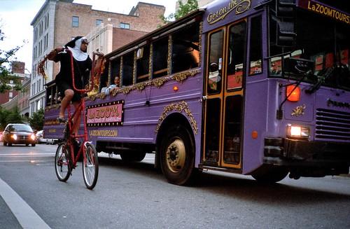 Tall bike Nun