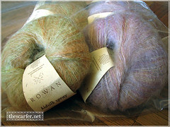 Rowan Kidsilk Spray in Clay and Tea Rose, USD9 for each ball plus actual shipping.