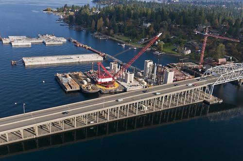 Aerial Photo of 520 Bridge Construction near Medina