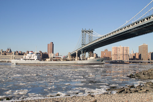 Icy East River by Toni Tan