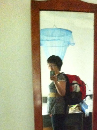 Backpack that morphed into an overloaded sack.