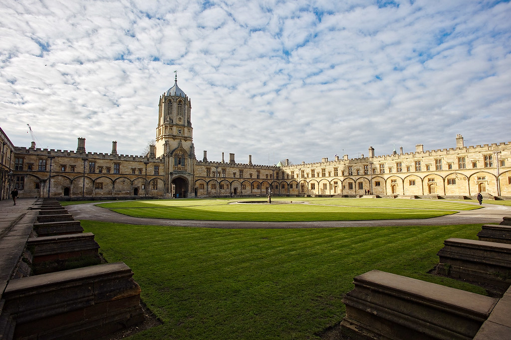 The Christ Church courtyard in Oxford.