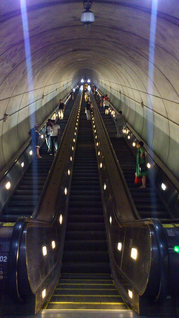 Wheaton Metro escalator