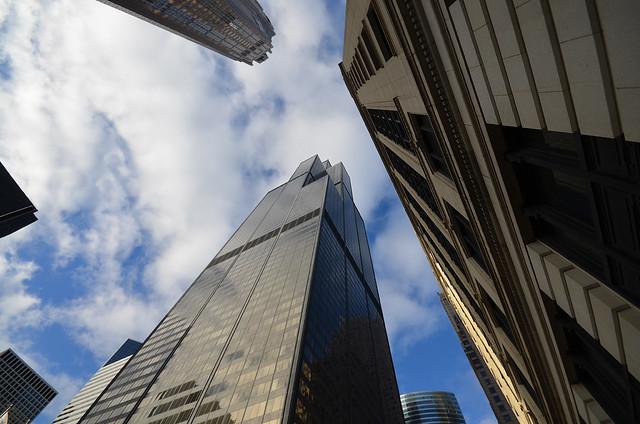 Willis Tower desde las calles de Chicago