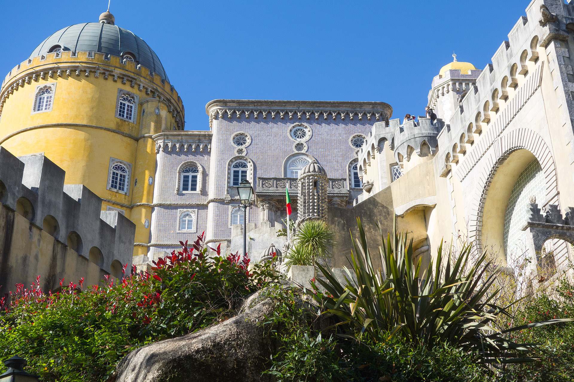Just before the entrance to Pena Palace.