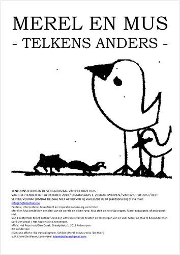 Merel en Mus, affiche Antwerpen Het Roze Huis
