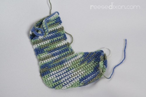 Crocheted Sock Tutorial Step 2
