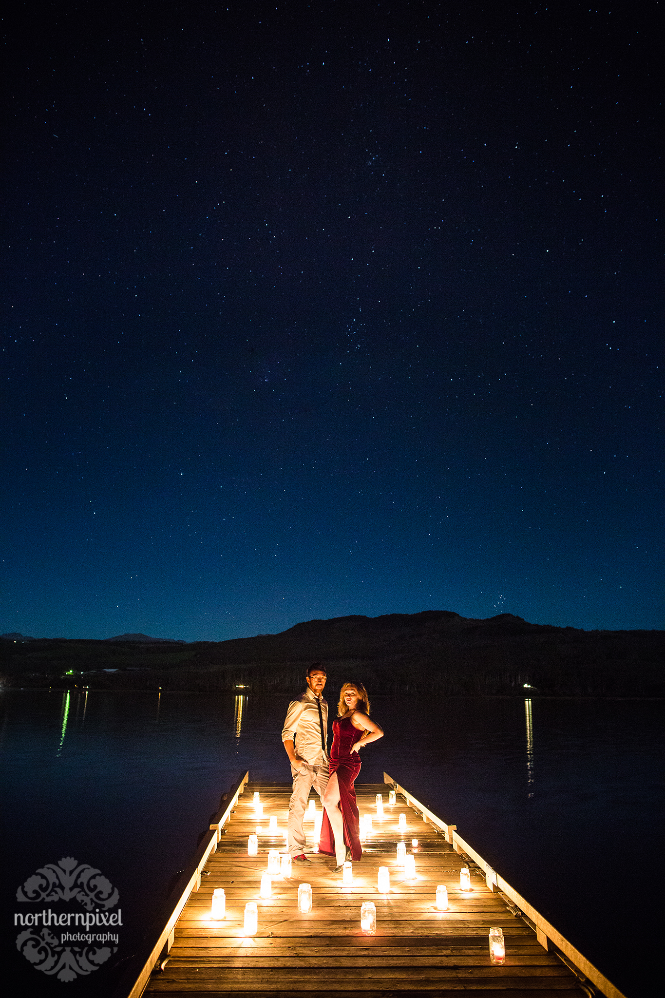 Styled Night Session Northern BC Wedding Photographer