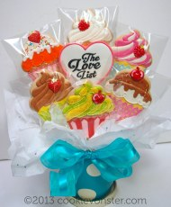 Cupcake cookie bouquet