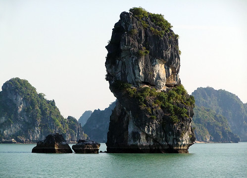 Rock Formation seen while cruising Ha Long Bay in Vietnam