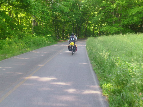 Hannah riding on TN back road