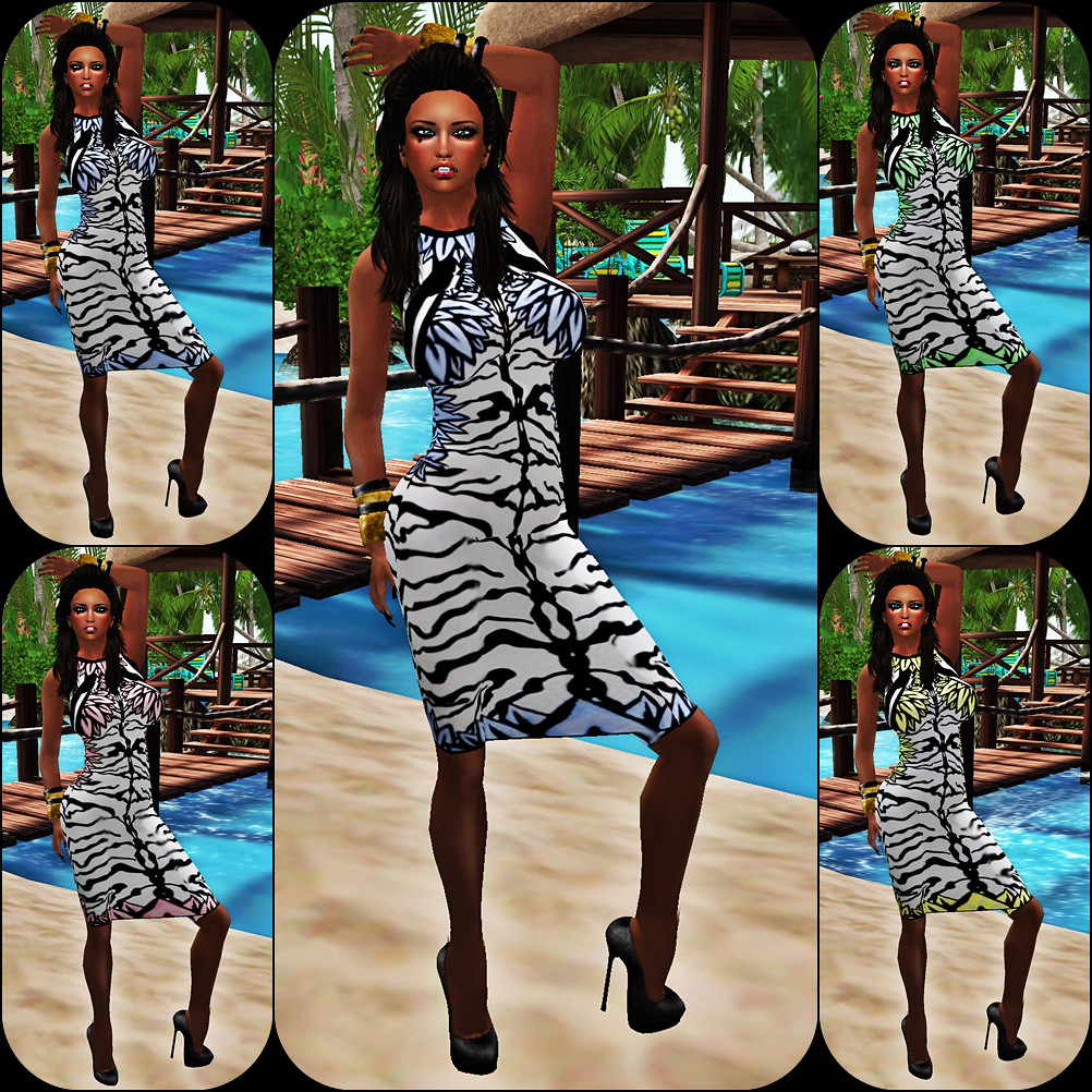 IAF Zebra Bodycon Dress