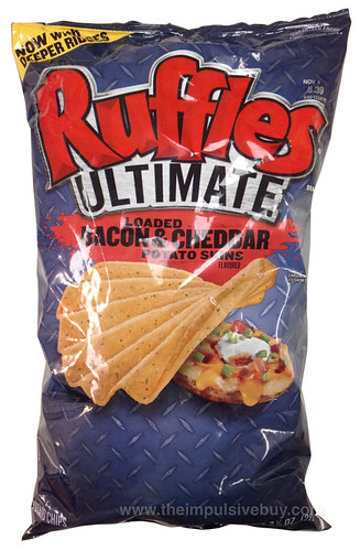 Ruffles Ultimate Loaded Bacon & Cheddar Potato Skins Potato Chips