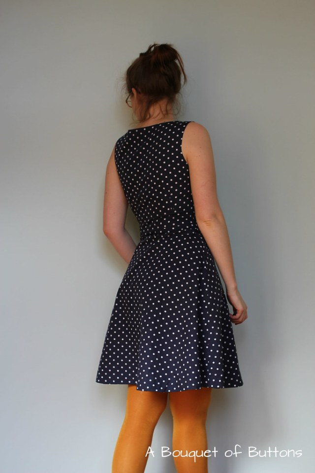 Knipmode, jurk, dress, polka dot