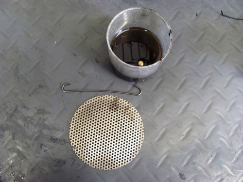 Oil Pickup Screen & Pan Bolts in Carb Cleaner