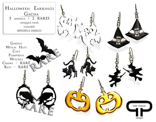 Pure Poison - Halloween Gacha Earrings