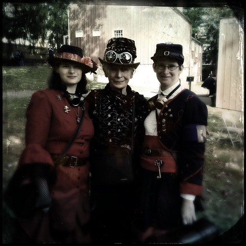 Three Beautiful Steampunk Ladie