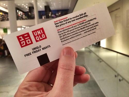 MoMA Friday Free Ticket