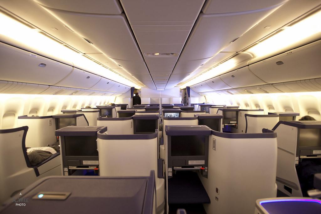 ANA Business Class Cabin