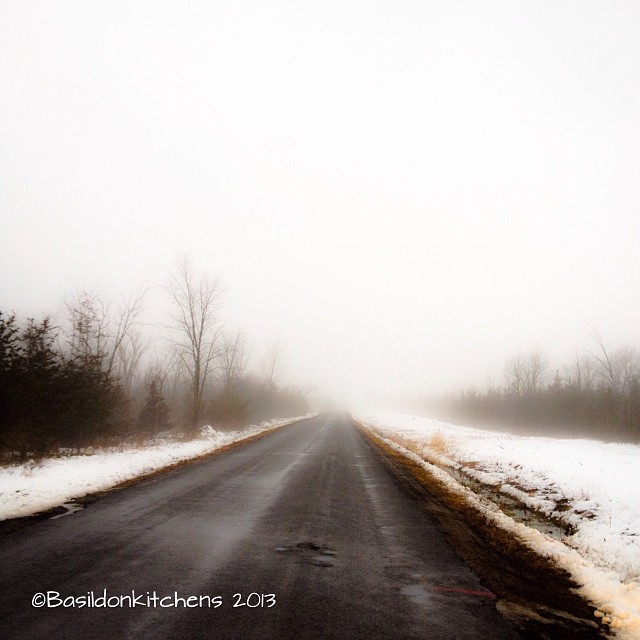 Dec 2 - where I stood {beside my car on a very foggy drive to work} #fmsphotoaday #fog #winter #princeedwardcounty