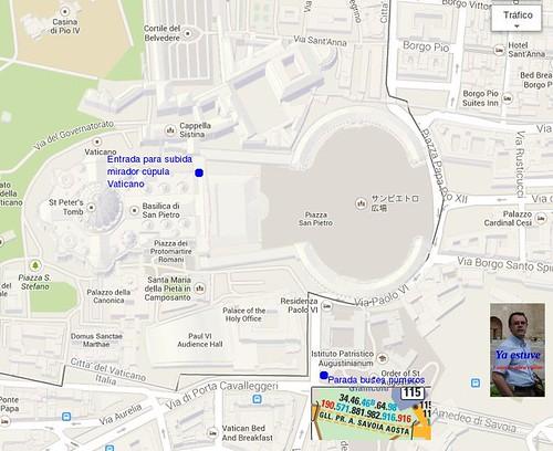 localizacion Entrada Mirador Cupula Vaticano