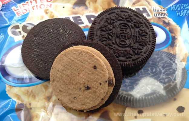 Nabisco Limited Edition Cookie Dough Oreo Cookies Closeup