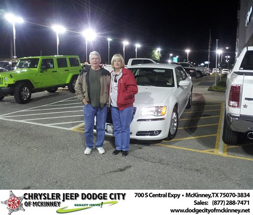 Happy Anniversary to Billy L Dollarhide on your 2013 #Chrysler #300 from Brent Villarreal  and everyone at Dodge City of McKinney! #Anniversary by Dodge City McKinney Texas