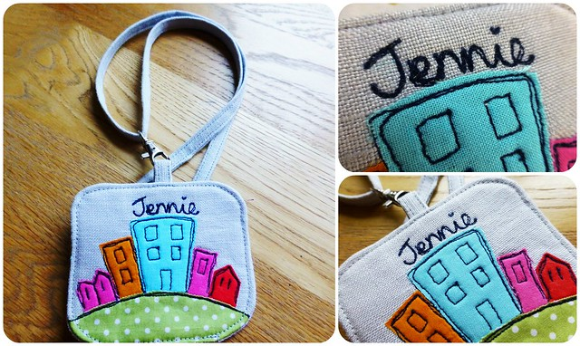 FQR13 Name tag for Jennie/Little Stitch