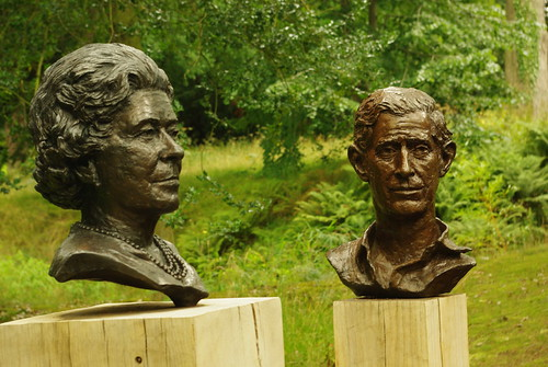 20130807-99_Queen Elizabeth II + Prince Charles (bronze busts) - Chatsworth by gary.hadden