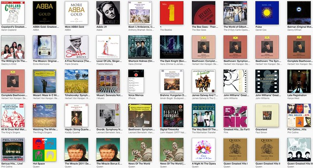 iTunes Albums Page 1