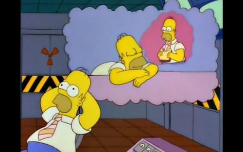 Homer bored at work