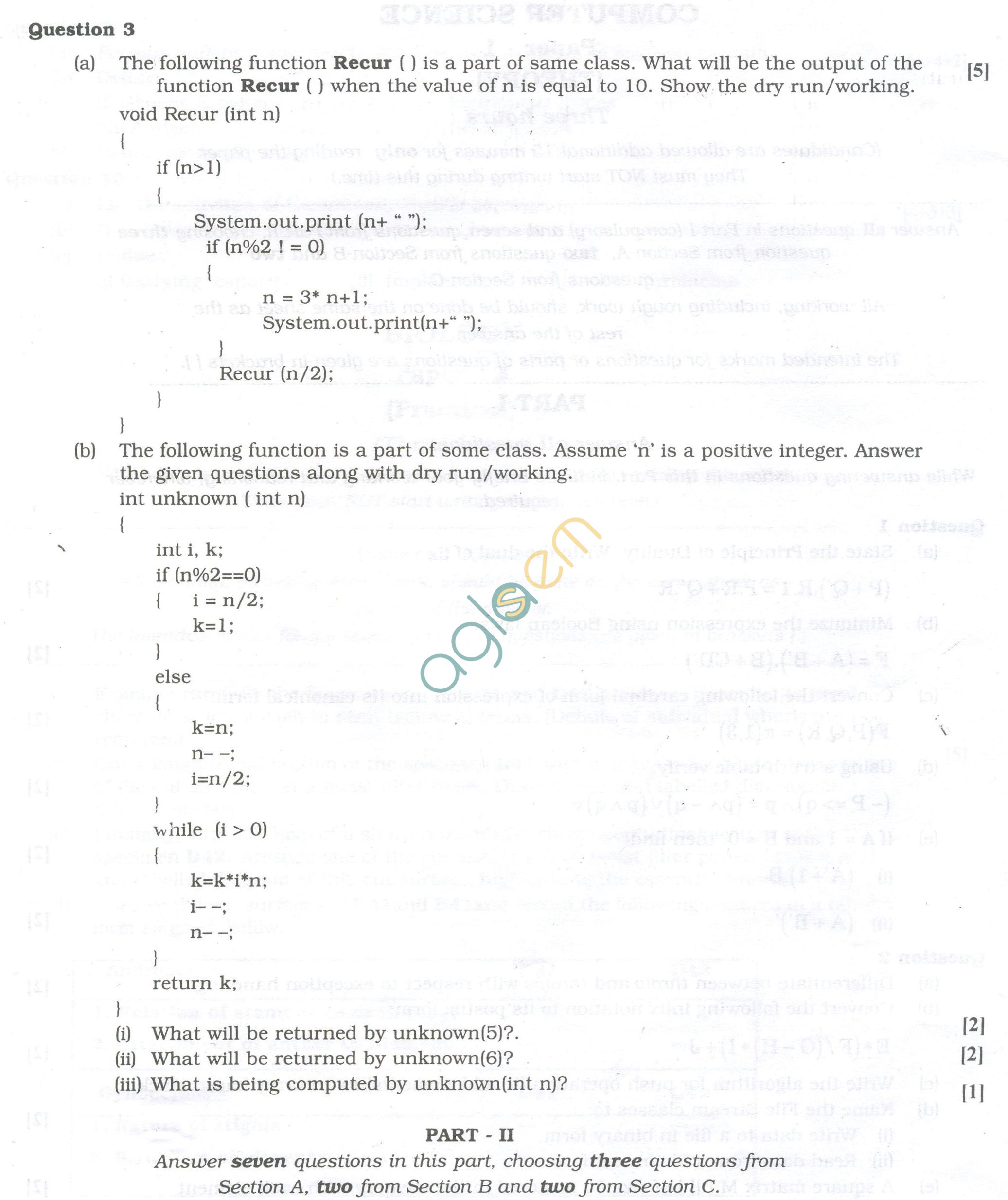 Isc Question Papers For Class 12 Computer Science