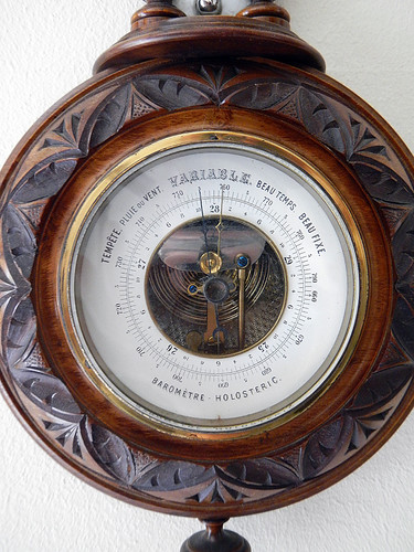Barometer holding steady at variable