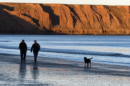 Filey dog-walkers by geoffspages