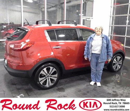 Thank you to Joanne Brown on your new 2013 #Kia #Sportage from Eric Armendariz and everyone at Round Rock Kia! #NewCar by RoundRockKia