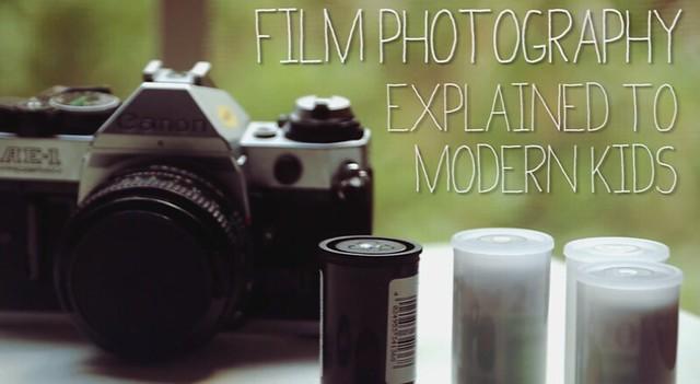 explicando que es la fotografia analogica a los niños