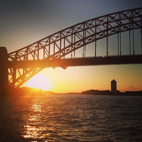 Harbour Bridge #sunset #sydney #australia by @MySoDotCom