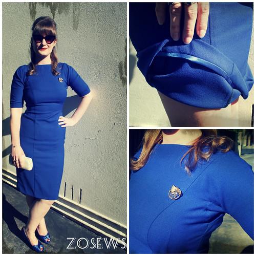 Gertie's wiggle dress by ZoSews