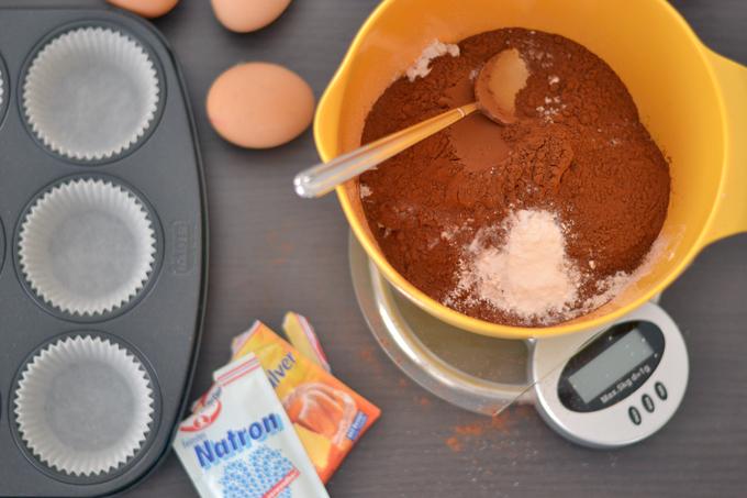 Double Chocolate Muffins mit Heidelbeeren