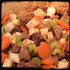 Once carrots & celery begin to soften, add the #turnips to the #IrishStew w/ #Guinness