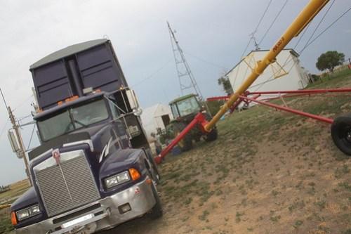 Purple unloading.