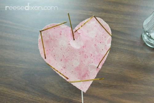Valentine Heart Bouquet Step 8
