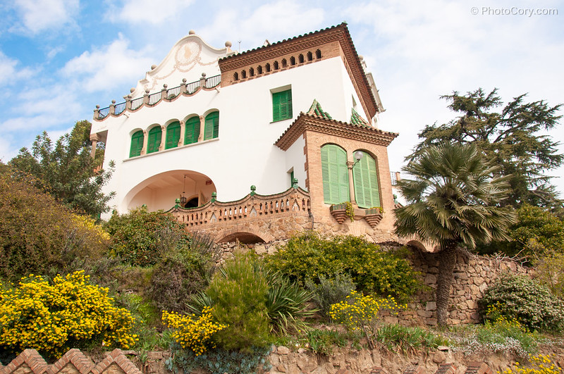 house in Guell Park in Barcelona