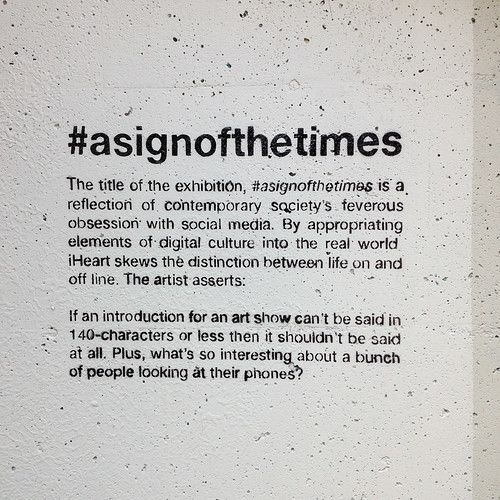 #asignofthetimes By I Heart